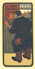 EX-LIBRIS JOHANNES SAUER (odkaz v elektronickém katalogu)