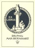 EX LIBRIS DR.PHIL.MAX BERNHART (odkaz v elektronickém katalogu)
