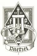 EX-LIBRIS FELIX PAETZEL (odkaz v elektronickém katalogu)