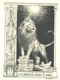 EX LIBRIS LOUIS LION (odkaz v elektronickém katalogu)