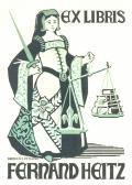 EX LIBRIS FERDINAD HEITZ (odkaz v elektronickém katalogu)
