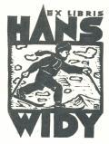 EX LIBRIS HANS WIDY (odkaz v elektronickém katalogu)