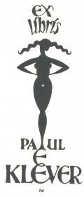 EX Líbrís PAUL E.KLEVER (odkaz v elektronickém katalogu)