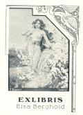 EXLIBRIS  Elsa Berghold (odkaz v elektronickém katalogu)