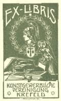 EXLIBRIS Künstgewerbliche Vereinigung Krefeld (odkaz v elektronickém katalogu)