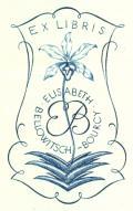 EX LIBRIS ELISABETH BELLOWITSCH-BOURCY (odkaz v elektronickém katalogu)