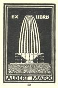 EX LIBRIS ALBERT MARX (odkaz v elektronickém katalogu)