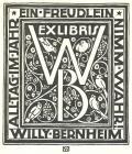 EX LIBRIS WILLY BERNHEIM ALL TAG IM JAHR EIN FREUDLEIN NIMM WAHR! (odkaz v elektronickém katalogu)
