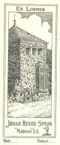 Ex LIBRIS JOSIAH HENRY SYMON (odkaz v elektronickém katalogu)