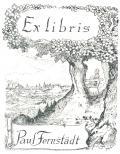 Ex libris Paul Fernstädt (odkaz v elektronickém katalogu)