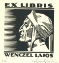 EX LIBRIS WENCZEL LAJOS (odkaz v elektronickém katalogu)