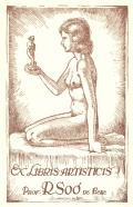 EX LIBRIS ARTISTICIS PROF.R.SOÓ DE BENE (odkaz v elektronickém katalogu)