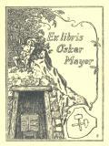 Ex libris Oskar Mayer (odkaz v elektronickém katalogu)