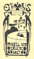 Ex Libris MABEL VON GRUENEWALT (odkaz v elektronickém katalogu)