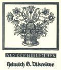 AUS DER BIBLIOTHEK Heinrich G. Dikreiter (odkaz v elektronickém katalogu)