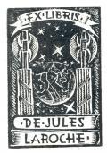 EX LIBRIS DE JULES LAROCHE (odkaz v elektronickém katalogu)
