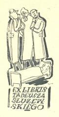Ex libris Tadeusza Służewskiego (odkaz v elektronickém katalogu)