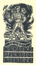 Ex libris Krystka Jarnuszkiewicza (odkaz v elektronickém katalogu)