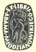EX LIBRIS Adama Młodzianowskiego (odkaz v elektronickém katalogu)