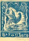 EX LIBRIS B. + FORSBERG (odkaz v elektronickém katalogu)