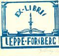 EX LIBRIS LEPPE FORSBERG (odkaz v elektronickém katalogu)