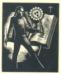[Muž s brkem u veliké knihy] (odkaz v elektronickém katalogu)