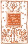 CRESIMA ET EUCARESTIA DI ANNA 16.IV.1929 VII (odkaz v elektronickém katalogu)