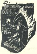 Friede denen die guten Willens sind gut Neu Jahr 1937! Kaiser (odkaz v elektronickém katalogu)