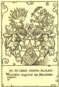 EX LIBRIS ARTIUM ALFREDI WALCHER EQUITIS DE MOLTHEIN (odkaz v elektronickém katalogu)