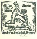 Alles Gute münschen Fritz u Friedel Born (odkaz v elektronickém katalogu)