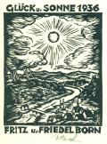 GLÜCK u. SONNE 1936 FRITZ u. FRIEDEL BORN (odkaz v elektronickém katalogu)