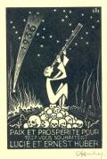 PAIX ET PROSPERITE POUR 1937 VOUS SOUHATENT LUCIE ET ERNEST HUBER (odkaz v elektronickém katalogu)