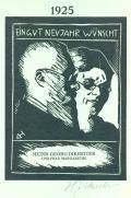 EIN GUT NEUJAHR WÜNSCH HEINR. GEORG DIKREITER UND FRAU MARGARETHE (odkaz v elektronickém katalogu)