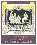 ULISES Y CIRCE EX-LIBRIS BARTOMEU SIGALÉS (odkaz v elektronickém katalogu)