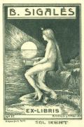 B.SIGALÉS EX-LIBRIS (odkaz v elektronickém katalogu)