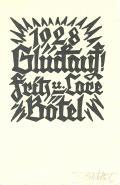 1928 Glückauf! Fritz u.Lore Bötel (odkaz v elektronickém katalogu)