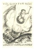 VIEL GLÜCK FÜR 1930 WÜNSCH HANNS M. HIRSCH (odkaz v elektronickém katalogu)