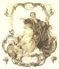 Ex Libris Dr. Valentin Rosenfeld Wien (odkaz v elektronickém katalogu)