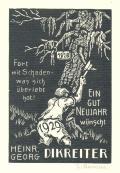 EIN GUT NEUJAHR 1929 wünscht HEINR. GEORG DIKREITER (odkaz v elektronickém katalogu)