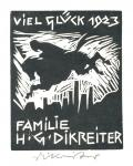 VIEL GLÜCK 1923 FAMILIE H.G. DIKREITER (odkaz v elektronickém katalogu)