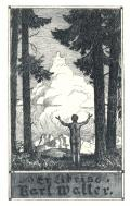 Ex libris Karl Walter (odkaz v elektronickém katalogu)