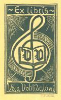 Ex libris Věra Vohlídalová (odkaz v elektronickém katalogu)