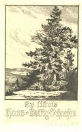 Ex libris Hans=Betty Schaefer (odkaz v elektronickém katalogu)