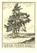 EXLIBRIS FRIEDEL HACKER (odkaz v elektronickém katalogu)