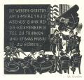SIE WERDEN GEBETEN AM 3.MÄRZ 1932 ABENDS 8 UHR BEI DR. KREYENBERG TEE ZU TRINKEN UND ETWAS MUSIK ZU HÖREN (odkaz v elektronickém katalogu)