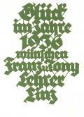 Glück im Jahre 1936 wünchen Franz u Tony Lehrer Linz (odkaz v elektronickém katalogu)