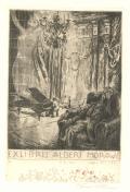 EX LIBRIS ALBERT MORAWE (odkaz v elektronickém katalogu)