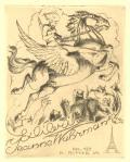 Exlibris Jeanne Wahrmann (odkaz v elektronickém katalogu)