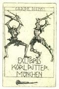 EXLIBRIS KARL RITTER MÜNCHEN (odkaz v elektronickém katalogu)