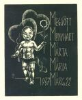 MEGJÖTT MENYHÁRT MÁRTA MÁRIA 1937 MÁRC.22 (odkaz v elektronickém katalogu)